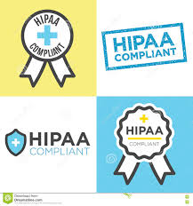 hipaa compliance icon graphics stock vector image 75733662