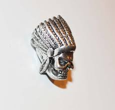 indian chief paracord skull profile badazzbeads com