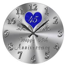 anniversary clock gifts 45 year wedding anniversary gifts sapphire clock zazzle