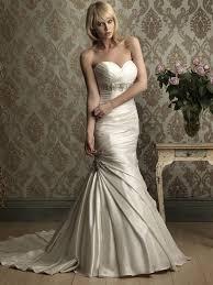 satin mermaid sweetheart neckline wedding dress sang maestro