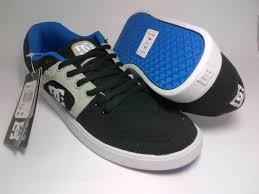 Sepatu Dc dc skate black grey blue shoes shop id
