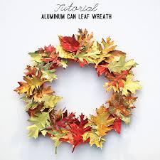Wreath Diy Upcycled Aluminum Can Fall Wreath Diy