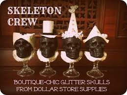 Halloween Craft Project by Jennuine By Rook No 17 Dollar Store Halloween Craft Skeleton