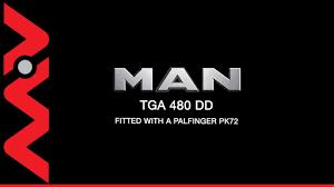 man tga 480 6x4 dd palfinger pk72002 crane truck youtube