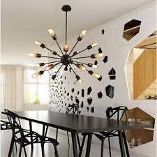 large chandelier lighting black metal pendant light bar ceiling
