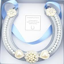 lucky horseshoe gifts lucky horseshoe real bridal wedding gift blue silver s https