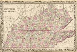 map ky and tn historical city county and state maps of kentucky