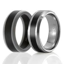 designed silicone rubber wedding ring men tungsten wedding band