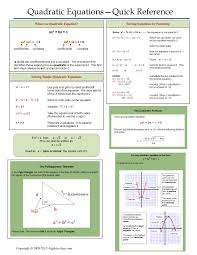 one page notes worksheet for quadratic equations unit algebra