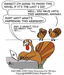 to fellow canadian writers out there happy thanksgiving weekend