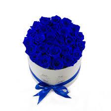 white and blue roses medium white box blue roses flovery