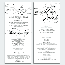 catholic wedding program template catholic wedding program template