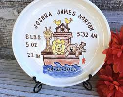 baby birth plates personalized birth plate etsy