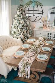 Christmas Dining Room Decor French Country Farmhouse Christmas Dining Room U0026 Table Setting