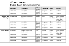 download project team communication plan for microsoft office 2003