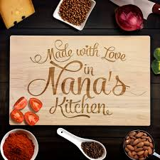 Personalized Kitchen Gifts by Custom Cutting Board Rustic Birthday Gift Made With Love In Nana U0027s