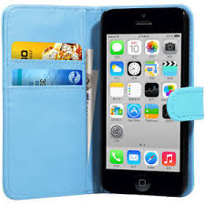 light blue iphone 5c case light blue flip wallet leather case cover for apple iphone 5c free