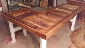 L Shaped Desk Designs Diy Recycled Pallet L Shaped Desk Pallet Furniture Plans