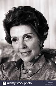 Nancy Reagan by First Lady Nancy Reagan Wife Of President Ronald Reagan At Her