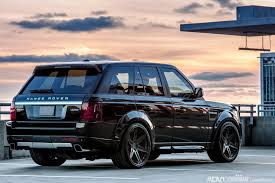 black land rover with black rims black range rover sport adv6 track spec cs adv 1 wheels