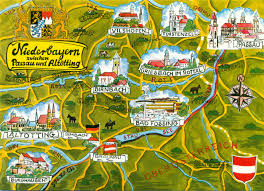 Bamberg Germany Map by Passau Germany Illustrated Map Danube Waltz Prague