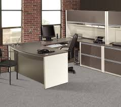 Office Corner Desks by Furniture Modern U Shaped Office Desk Mixed Rustic Exposed Red