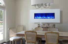 electric fireplace in dining room home design ideas