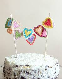 hearts cake topper hearts garland valentines day decoration