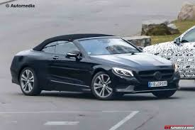 convertible mercedes 2015 mercedes benz s class convertible spied with less camo
