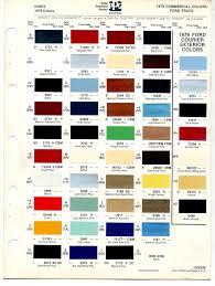 chart car paint code color chart