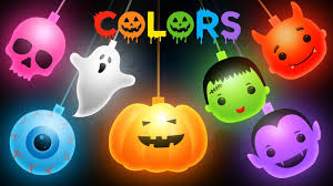halloween cartoon image learn colors with halloween cartoon colours for children youtube