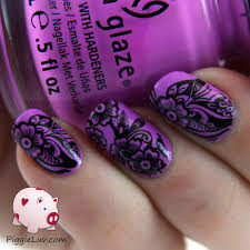 piggieluv easy nail art with kiss nail tattoos
