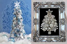 Christmas Tree Decorations In Blue And Silver by Pop Culture And Fashion Magic Original Christmas Trees Ideas