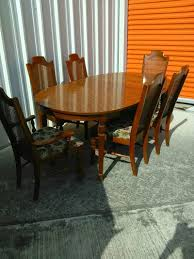 broyhill dining room sets broyhill dining table w 6 cane back chairs leaf for sale in spring
