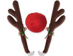 car antlers reindeer antlers nose car ornament wonlane