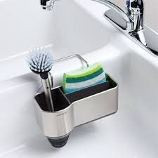 Sink Caddy Simplehuman Sink Caddy The Container Store - Kitchen sink sponge holder