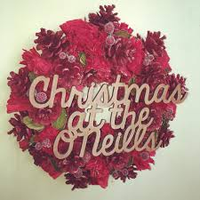 personalised christmas wreath made with love and sparkle