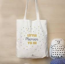 sac en toile personnalisable cadeau baby shower sac little maman to be tote bag cadeau de