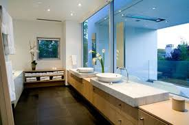 elegant bathroom ideas for kids with white washbasin on the wooden