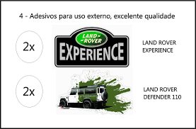 land rover experience defender adesivos land rover experience e defender 110 r 19 00 em