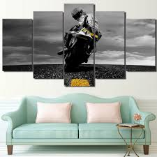aliexpress com buy 5 panel hd printed framed motorcycle sports
