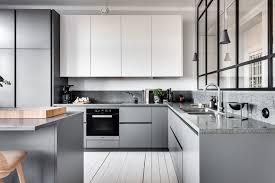 cuisine blanc mat sans poign 1001 idées déco tendance pour l aménagement d une cuisine gris