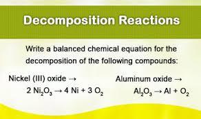 decomposition reactions ck 12 foundation