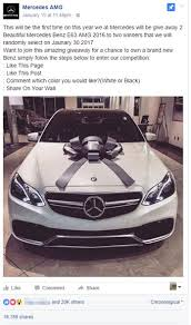 mercedes giveaway win a mercedes amg for a post it s a scam