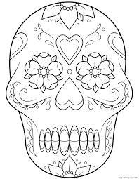 sugar skull 2 calavera coloring pages printable