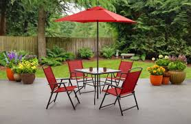 Patio Chairs At Walmart by Mainstays 6 Piece Folding Patio Dining Set Only 97 11 At Walmart