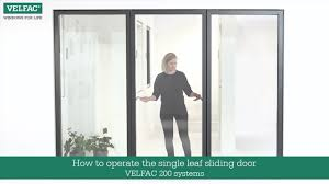 Sliding Doors How To Operate The Single Leaf Sliding Door Velfac 200 U0026 Velfac