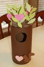 valentine u0027s day squirrel tree card box craft preschool education