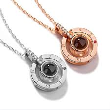 you necklace images 2018 new arrival rose gold silver 100 languages i love you jpg