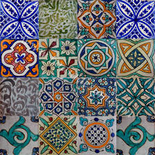 moroccan hand painted cement tile cement tiles bathroom paint